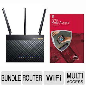 $139.99 ASUS RT-AC68U Wireless-AC1900 Dual-Band Gigabit Router