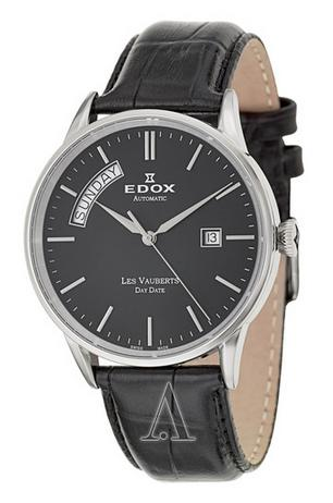 Edox Men's Les Vauberts Day Date Automatic Watch 83007-3-NIN