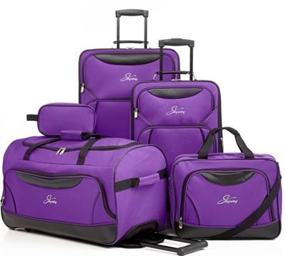 $84.99 Skyway Freedom 5 Piece Spinner Luggage Set, 2 Colors Available