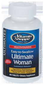 2 For $37.49VitaminShoppe Ultimate Woman Multivitamin (Easy-To-Swallow), 180 Tablets