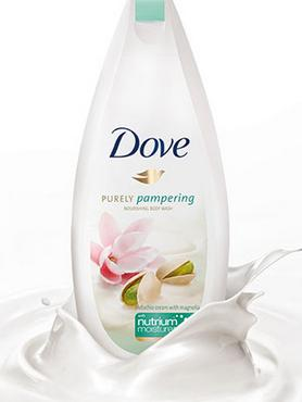 Dove Purely Pampering Pistachio Cream with Magnolia Body Wash, 22 Fluid Ounce