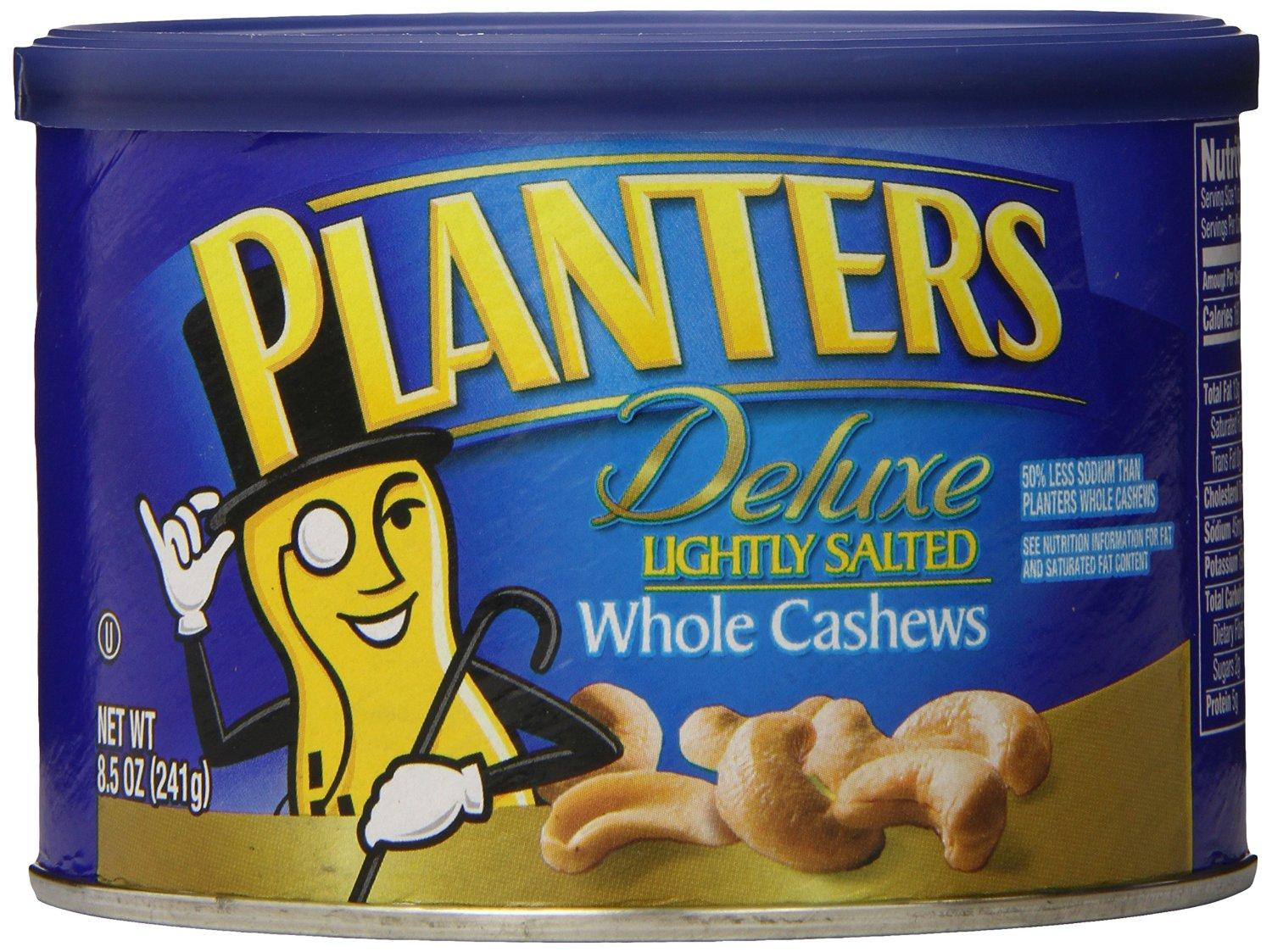 $8.93 Planters Cashew Whole Lightly Salted, 8.5-oz. (Count of 3)