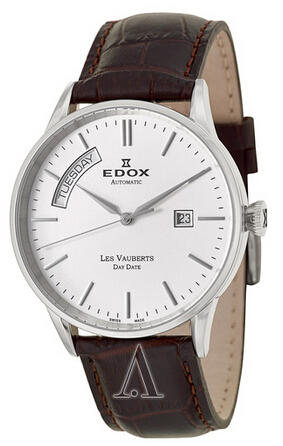 Edox Men's Les Vauberts Day Date Automatic Watch 83007-3-AIN