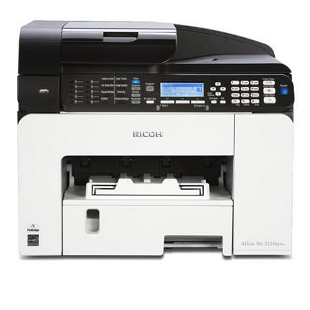 $84.99 Ricoh Aficio SG 3110SFNw GELJET Wireless Multifunction Color Printer (Print, Copy, Scan, Fax)