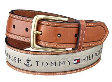 Tommy Hilfiger Men's Ribbon Inlay Belt