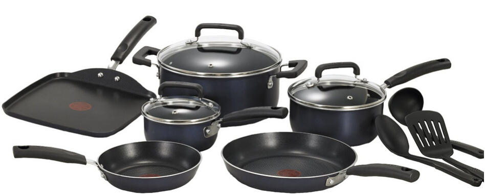 T-fal C109SC74 Signature Nonstick Expert Thermo-Spot Heat Indicator Cookware Set, 12-Piece