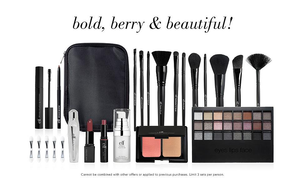 Today Only! Save 50% Off the 56 Piece Bold, Berry & Beautiful Collection @ e.l.f. Cosmetics