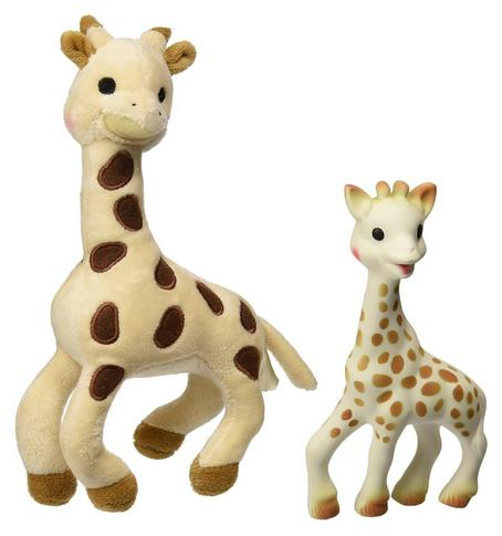 $25.35 Vulli Sophie Giraffe Set (Soft Toy and Natural Rubber)