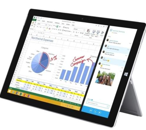 $449.99 Pre-Owned Microsoft Surface Pro 3 128GB Intel i5 Tablet - Silver