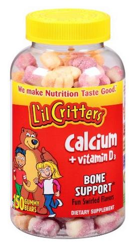 $4.97 L'il Critters Calcium Gummy Bears with Vitamin D3,Fun Swirled Flavor,150-Count