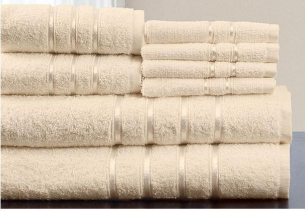 Lavish Home 8-Piece 100-Percent Egyptian Cotton Bath Towel Set
