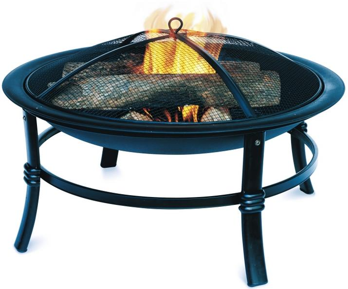$29.99 28in Outdoor Fireplace Steel Fire Pit