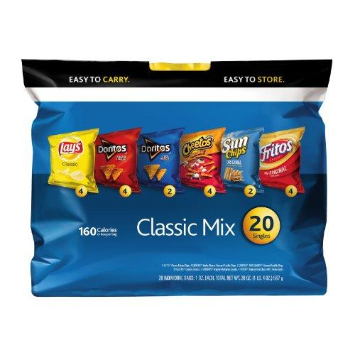 $5.98 Frito-Lay Chips Classic mix Multipack, 20 Count
