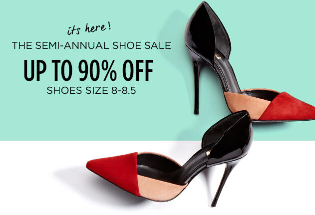 Up to 90% Off Semi-Annual Shoe Sale @ MYHABIT