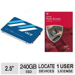 $24.99  240GB OCZ ARC 100 SERIES Internal Solid State Drive + McAfee MultiAccess