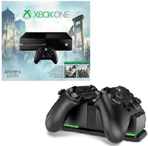 $349 Xbox One Assassin's Creed Bundle( No Kinect) + Dual-port Controller Charging Station