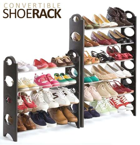 $22.95 Convertible 30-Pair Shoe Rack Tower with Zippered Cover