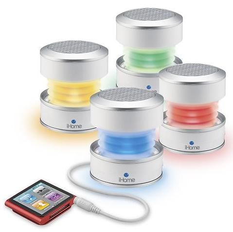 $11.99 iHome iHM61W GlowTunes Color Changing Mini Speaker