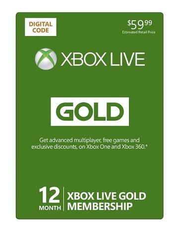 $39.99 Xbox Live 12 Month Gold Membership (email delivery)