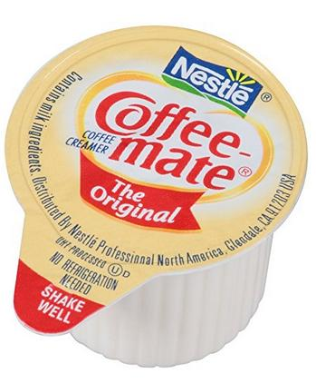 $9.59 Coffee-mate Coffee Creamer, Original Liquid Singles, 0.375-Ounce Creamers (Pack of 180)