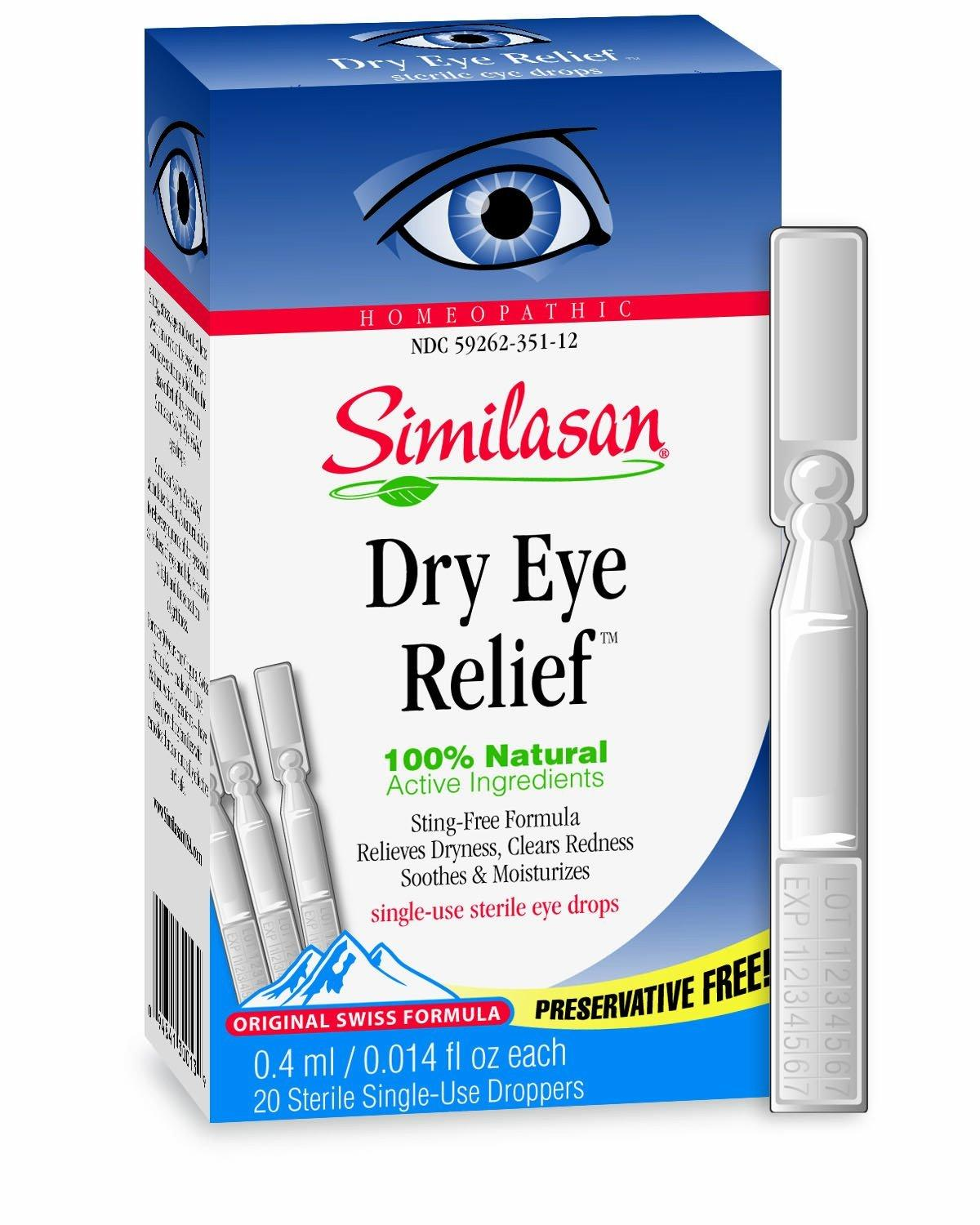 $7.12(reg. $12.94) Similasan Preservative-Free Dry Eye Relief Eye Drops, 014-Ounce Single-Use Droppers in 20-Count Boxes