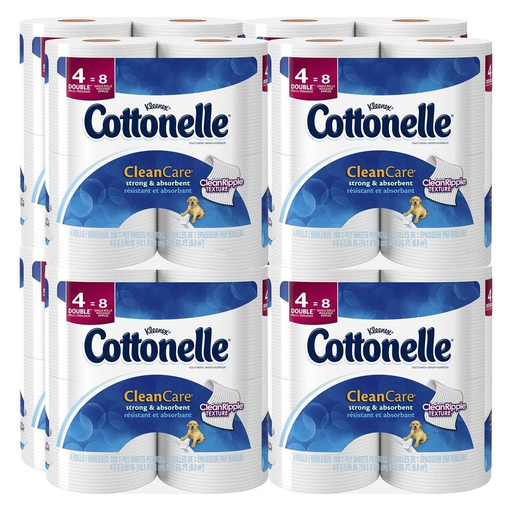 $15.66 + Free Shipping Cottonelle Clean Care Toilet Paper, Double Roll, 32 Count