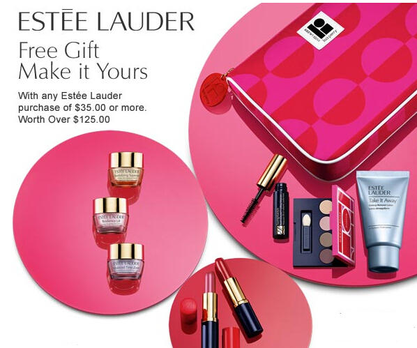 Free 6 Pc Giftwith $35 Estee Lauder Purchase @ Boscovs