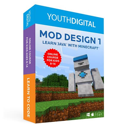 $149.99(原价$249.99) Youth Digital - Mod Design 1学Java程序(Mac/PC)