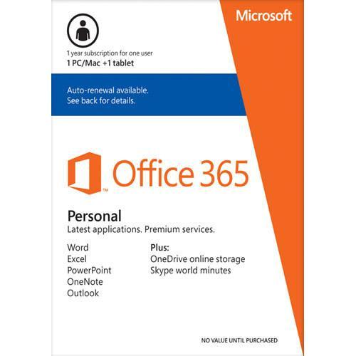 Free Microsoft Office 365 Personal with new PC, Mac, iPad or select Windows tablet Purchase @Best Buy