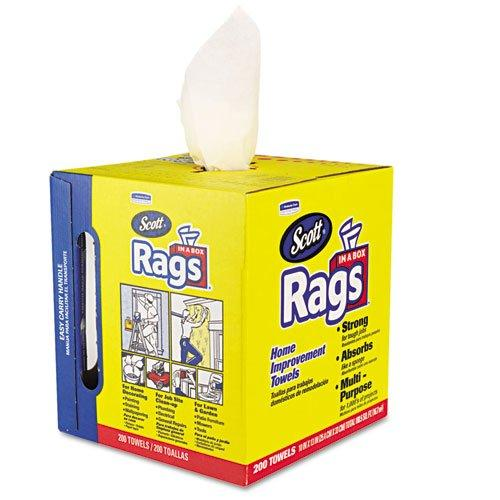 $53.99 Kimberly-Clark Scott 75260 Rags in a Box, White (8 boxes of 200 Towels)