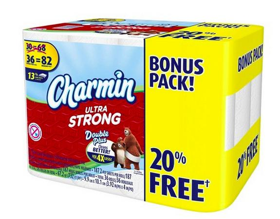 $5.98 Charmin Ultra Strong 36 Double Plus Bonus