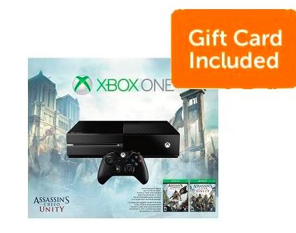 $349 Xbox One Assassin's Creed Unity Bundle+ $50 Dell Gift Card