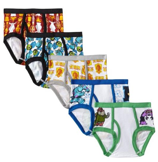 $5.67 Handcraft Little Boys' Monster University 5 Pack Brief