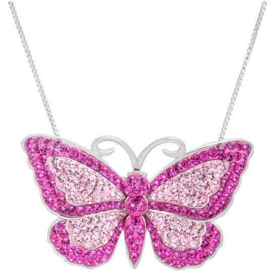 $39 Butterfly Pendant with Swarovski Crystals