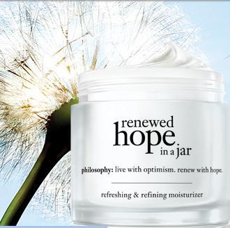 Free 8 oz and 24 oz Purity Made Simple with the Purchase of the Renewed Hope in A Jar @ Philosophy