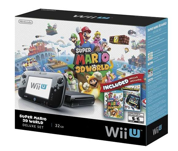 $274.99 Wii U 32GB Black Deluxe Set w/ Super Mario 3D World & Nintendo Land