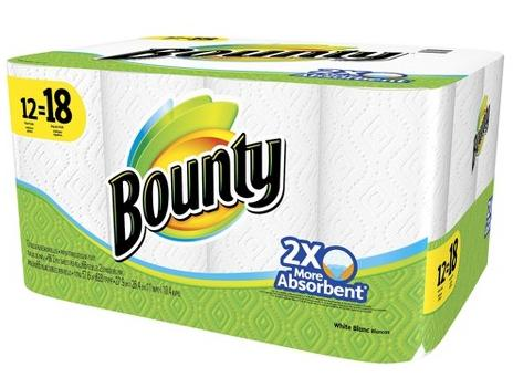 $28 For 24 Rolls + $5 Gift Card Bounty White Giant Paper Towel Rolls