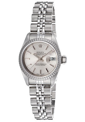 Rolex Women's Oyster Perpetual Datejust Automatic Steel Silver-Tone Dial Watch