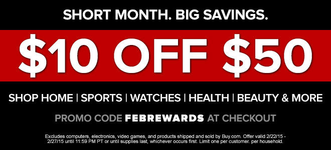 $10 off $50 on Home, Sports, Watches, Health, Beauty, & More @ Rakuten
