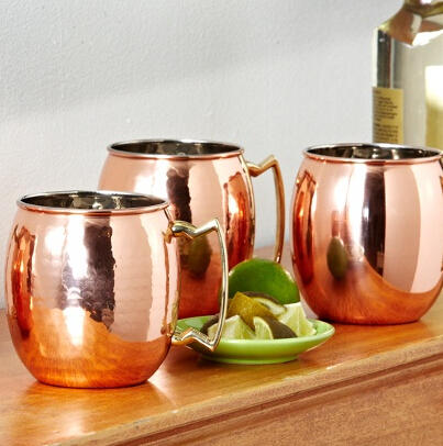 $34.99 24 Oz. Solid-Copper Moscow Mule Mug 2-Pack