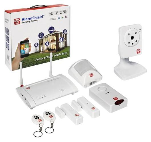 $124.99 Oplink Connected - AlarmShield Wireless Security System with Wireless Camera