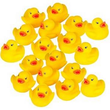 $5.95 Rubber Duck Baby Bath Toy (18-Pack)