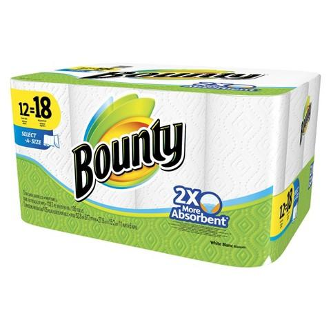 $5 Gift Card With Purchase of 2x 12-Count Bounty Giant or Mega Roll Paper Towels