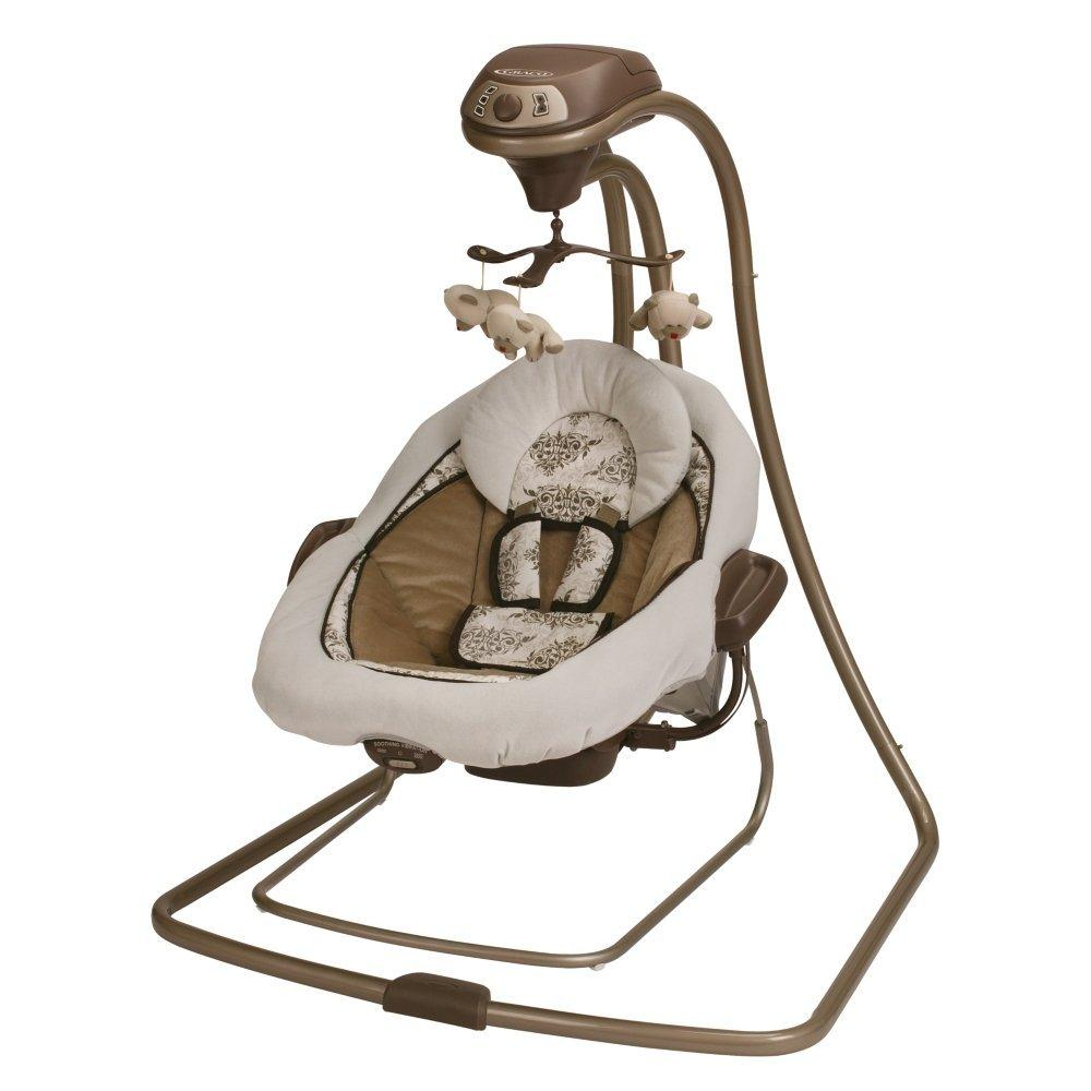 $101.44 Graco Duetconnect LX Infant Baby Swing and Bouncer, Farrow