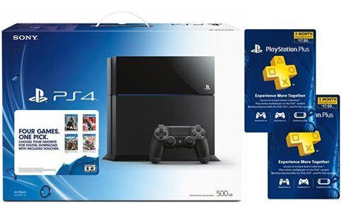 $359.99 PlayStation 4 Console w/ 1 Select Game and 6 Month PS Plus