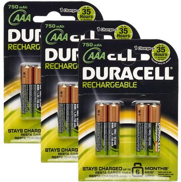 $14.9912 Pack Duracell AAA Rechargeable Batteries (Dealmoon Exclusive)