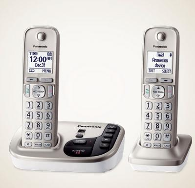 $25 Panasonic DECT 6.0 Expandable Cordless Phone System with Digital Answering System (Factory Refurbished)