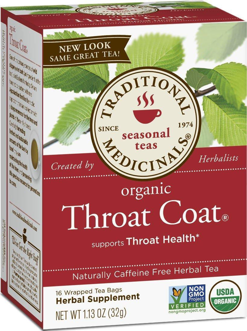 $4.6 Traditional Medicinals Organic Throat Coat 16-Count Boxes (Pack of 6)