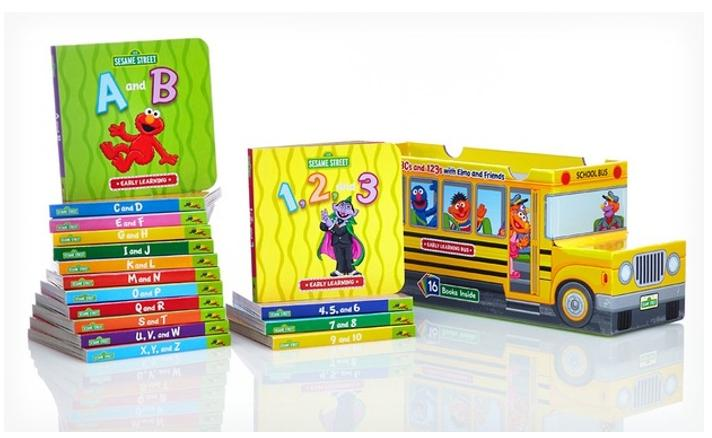 $19.99 Sesame Street ABCs and 123s 16-Book Bus
