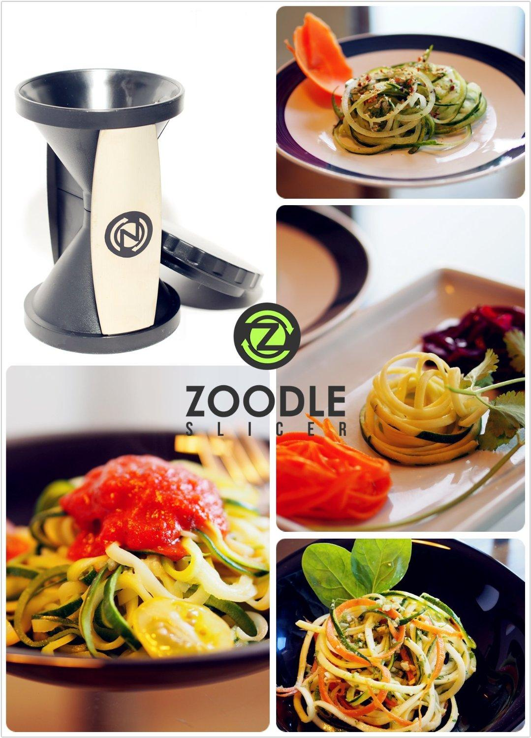 THE ORIGINAL ZOODLE SLICER - Premium Vegetable Spiralizer, Spiral Slicer, Zucchini Noodle Pasta Spaghetti Maker